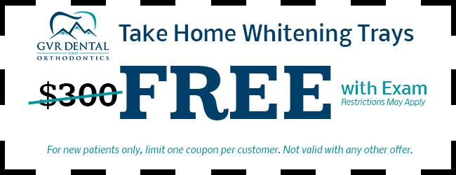 Take Home Whitening Tray Coupon